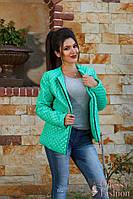 Стильная демисезонная стеганная куртка ветровка шеврон с камнями тренд новинка ( 48-50,52-54)
