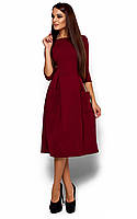 Вільне жіноче марсалове плаття-міді Somali (S)