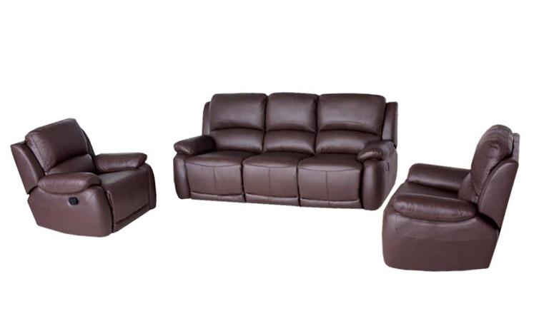 Кожаный диван в комплекте с креслом - DALLAS. Реклайнер (3+1)