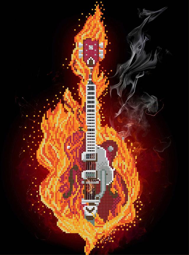гитара схема под бисер