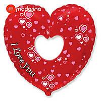 Modarina фольгированное сердце I love you