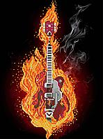 Схема для вышивки бисером Огненная гитара