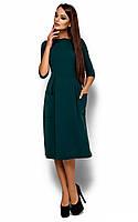 Вільне жіноче темно-зелене плаття-міді Somali