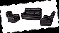 Комплект кожаной мебели с реклайнером - ORLANDO (3+1)