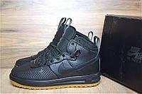 Зимние ботинки Nike Lunar Force 1 Duckboot 2017, кожа, черные