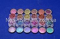 Втирка зеркальный блеск для ногтей, цвета в ассортименте