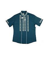 Сорочка вишита хрестиком. Чоловіча темно-синя сорочка. Вишиванки чоловічі. Вишиті  сорочки. 2679c8f2156c2