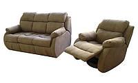 Современное кресло-реклайнер в комплекте с диваном - Барон (3+1)