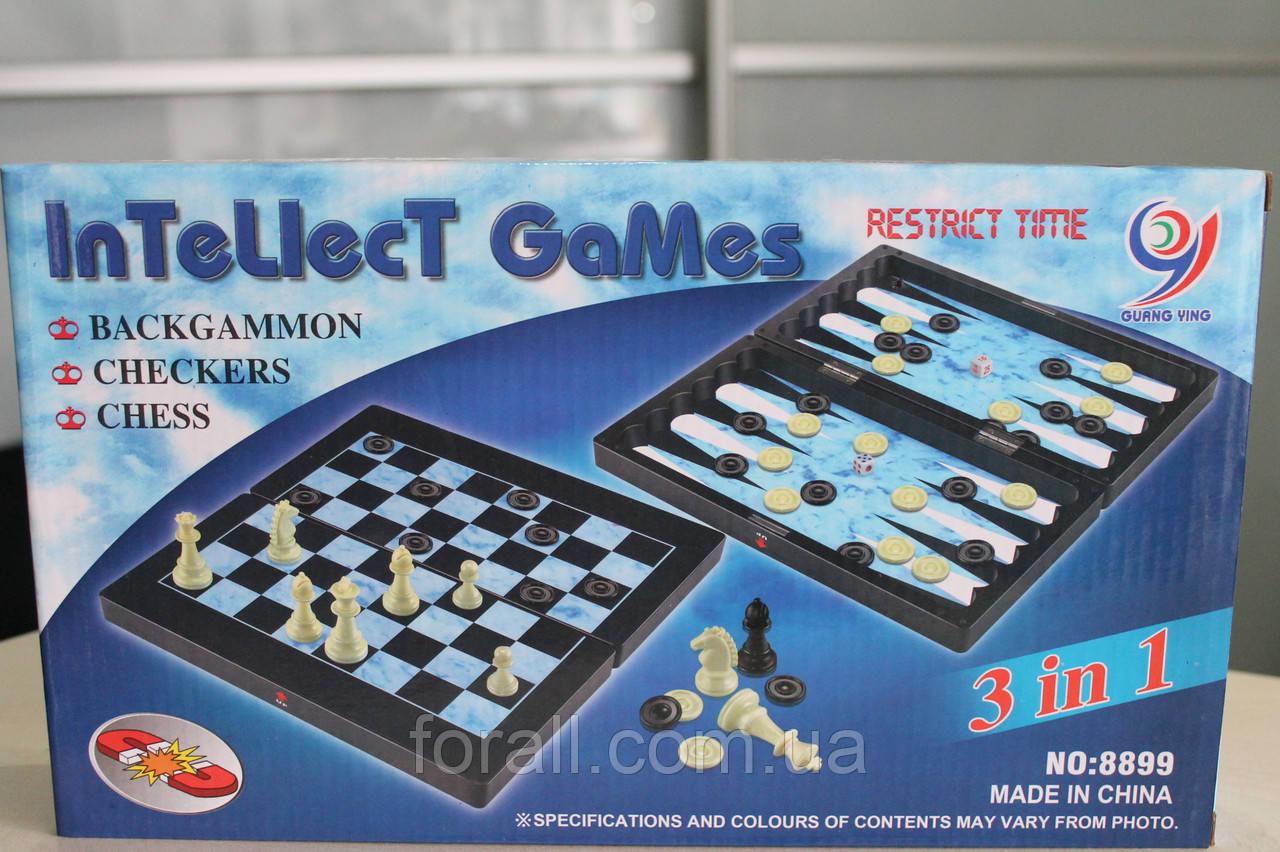 Шахматы, шашки, нарды 3в1