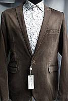 Мужской пиджак в клетку каштанового цвета Andromax