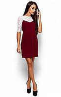 Жіноче марсалове плаття з гіпюром Montana
