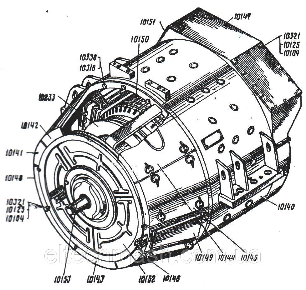 Генератор тяговый ГП-311Б (1ТХ.563.007, ИАКВ.529413.003)