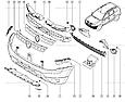 Бампер передний Рено Дастер, без ПТФ, фото 9