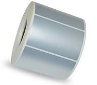 Этикетка металлизированная 95х60 мм полиэстер, матовое серебро (1000 шт)