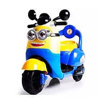 Детский электрический мотоцикл Миньон, с пультом управления