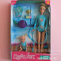 Кукла Defa Гимнастка с дочкой аксессуары в коробке 20,5*32*5 см