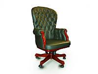 Кресло руководителя Честерфилд кожа темно-зеленая