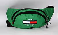 Сумка на пояс Tommy Hilfiger зеленая