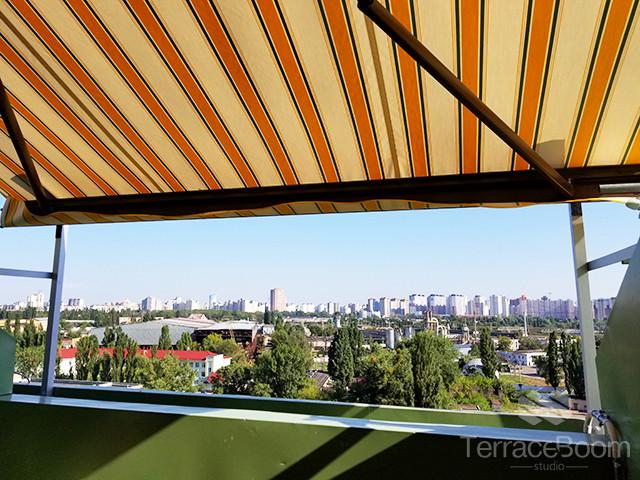 Обустройство балкона-террасы в Комфорт Таун, г. Киев 1
