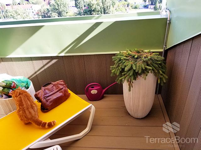 Обустройство балкона-террасы в Комфорт Таун, г. Киев 2
