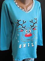 Байковые пижамы для сна., фото 1