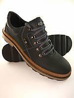 Ecco туфли comfort из натуральной кожи чёрный