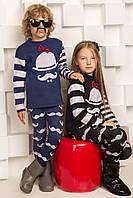 Свитер для девочки и мальчика Чарли черный и синий