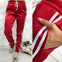 Женские спортивные штаны из плотного атласа