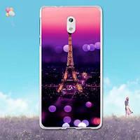 Силиконовый чехол накладка для Nokia 3 с картинкой Париж ночью