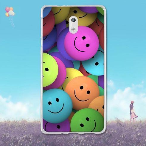 Силиконовый чехол накладка для Nokia 3 с картинкой Смайлы