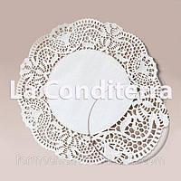 Белые ажурные салфетки, d=30 см (250 шт.)