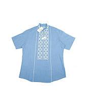 Синя вишита сорочка. Чоловіча вишиванка. Святкова чоловіча вишиванка.  Интернет магазин вишиванок. 06e20e06fdc81