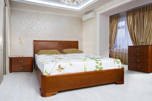 Спальня деревянная Ассоль (кровать с подъемным механизмом) Микс мебель, цвет темный орех / светлый орех