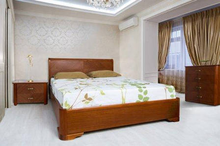 Спальня деревянная Ассоль (кровать с подъемным механизмом) Микс мебель, цвет темный орех / светлый орех, фото 2