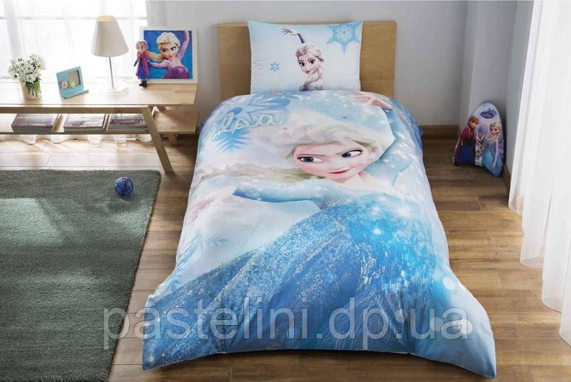 """Детское постельное бельё TAC Disney Frozen Glitter (Фроузен Глитер) - Интернет-магазин """"Pastelini"""" в Днепре"""