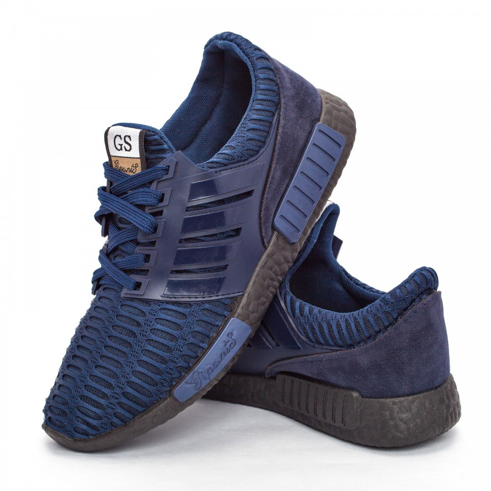 Мужские кроссовки синие (Код: DRM-302)
