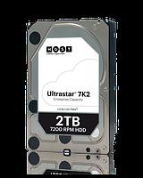 "Жесткий диск HDD 3.5"" Hitachi HGST 2TB Ultrastar 7K2, 7200 об/мин, S-ATA III, 600 MB/с, кэш-память 128 MB"