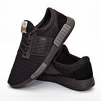 Мужские кроссовки черные (Код: DRM-303)