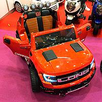 Детский электромобиль Джип M 3579EBLR-7 с колесами Eva,кожаное сиденье