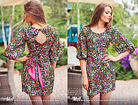 """Элегантное стильное короткое женское шёлковое платье """"Эстель"""""""