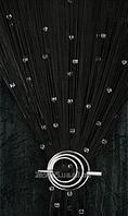 """Шторы нити """"Лас Вегас""""  9+1 ( черные с прозрачными кристаллами)"""
