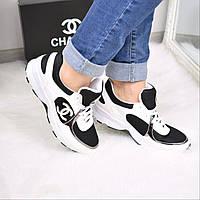 Кроссовки женские Chanel белые 3607 , спортивная обувь