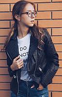 Женская куртка косуха с шипами АД-26