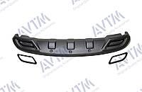 Диффузор заднего бампера Hyundai Accent (2011-2015) / обманки черные