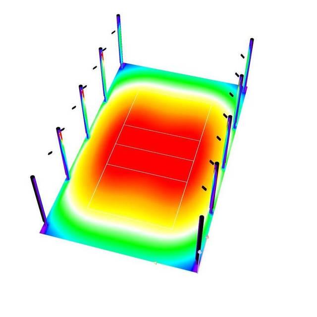 3D модель фиктивные цвета освещенности