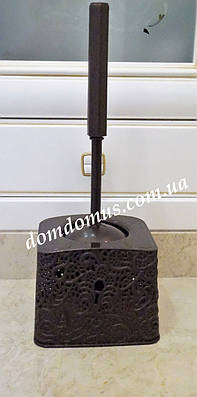 "Комплект для туалета ""Ажур"" (ерш, подставка), коричневый"