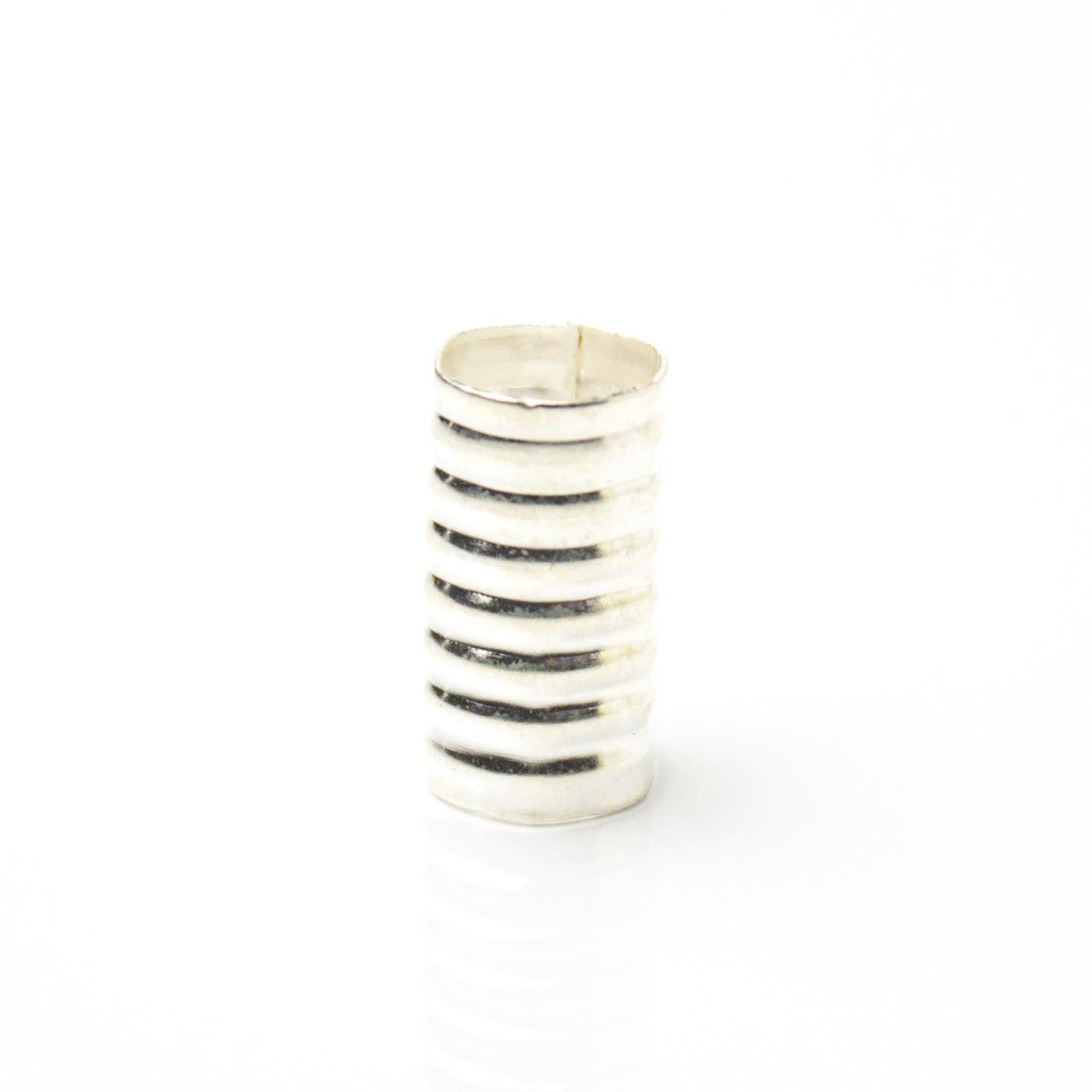 Трубочка для украшения дредов и косичек Ribby серебро