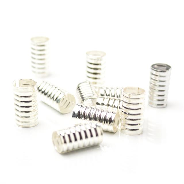 Трубочка для украшения дредов Ribby серебро