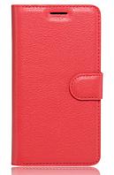Кожаный чехол-книжка для Lenovo Vibe k5 note, A7020 красный
