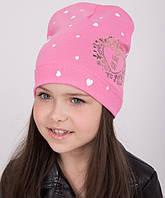 """Демисезонная  шапка для девочек """"Love you"""""""